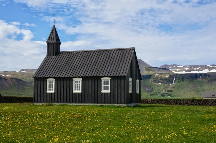 Budir Church - Buðahraun lava fields