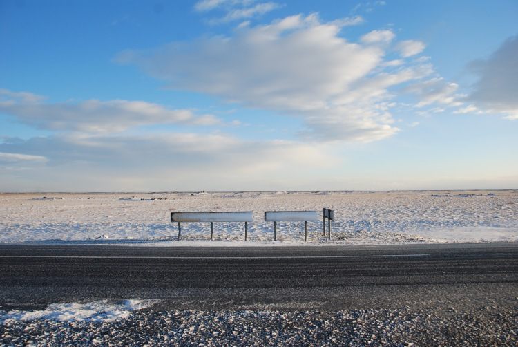 winter road iceland