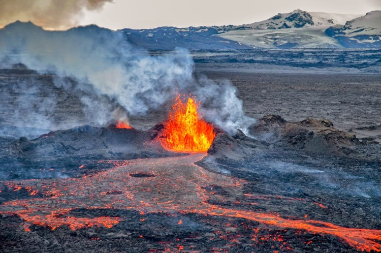 volcano tour iceland